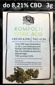 Susz Konopny CBD Kompolti Citric Acid do 8,21% 3g