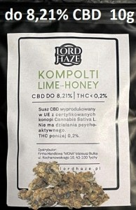Susz Konopny CBD Kompolti Lime-Honey do 8,21% 10g
